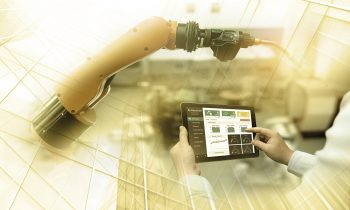 Tablet gesteuerter Roboterarm