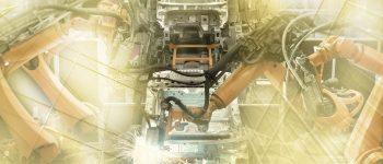 Automatisierte Fertigungsstrasse in der Automobilindustrie