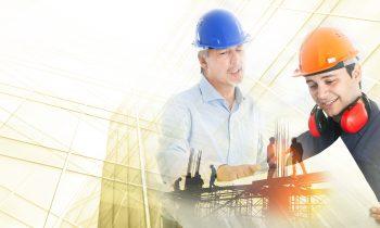 Bauingenieure mit Plan